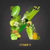 Vitamina K in alimento Immagini Stock