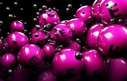 vitamina multicolorido da bola 3d em um fundo preto Imagem de Stock