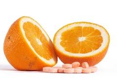 Vitaminas C fotografia de stock