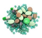 Vitaminas, comprimidos e tabuletas fotografia de stock