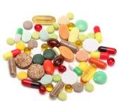 Vitaminas, comprimidos e tabuletas fotografia de stock royalty free