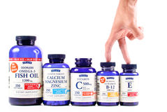 Vitaminas de múltiplos propósitos do tipo da origem imagem de stock royalty free