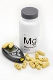 Vitaminas del magnesio para la prevención de la diabetes Imágenes de archivo libres de regalías