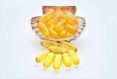 Vitaminas do óleo de peixes Imagem de Stock Royalty Free