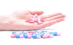 Vitaminas e comprimidos Imagem de Stock