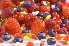 Vitaminas e suplementos nutritivos Fotos de Stock Royalty Free