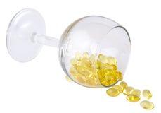 Vitaminas em um vidro Fotografia de Stock