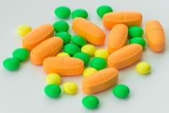 Vitaminas, minerales, cierre para arriba fotos de archivo libres de regalías