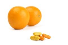 Vitaminas naturais Fotografia de Stock Royalty Free