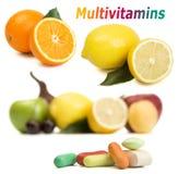 Vitaminas naturais Fotografia de Stock