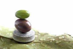 Vitaminas naturais equilibradas em uma folha Fotos de Stock