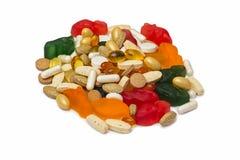 Vitaminas, píldoras Fotos de archivo libres de regalías