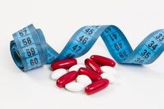 Vitaminas para uma dieta saudável, vida saudável Fotografia de Stock Royalty Free