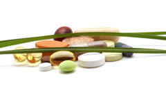 Vitaminas, tabuletas e comprimidos foto de stock royalty free