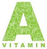 Vitamine A royalty-vrije illustratie
