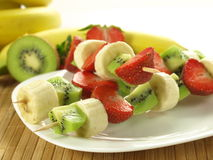 Vitamine auf Toothpick Stockfoto