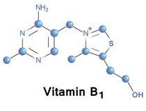 Vitamine B1 Stock Afbeelding