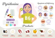 Vitamine B6 d'Infographics illustration libre de droits