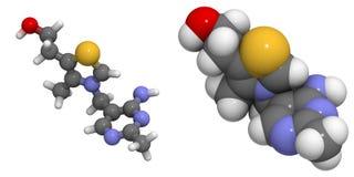 Vitamine B1 (thiamine) Stock Afbeeldingen