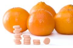 Vitamine C royalty-vrije stock foto's