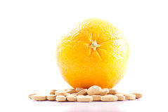 Vitamine C royalty-vrije stock afbeelding