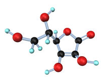 Vitamine C 3D de molécule Photo libre de droits