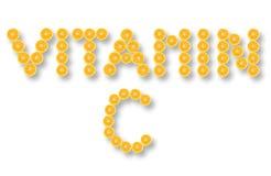 Vitamine C royalty-vrije stock foto