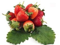 Vitamine C de rouge de fruit de fraise Photos libres de droits