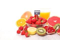 Vitamine Cvoedsel stock foto