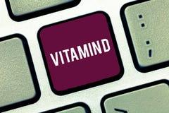 Vitamine D d'écriture des textes d'écriture Élément nutritif de signification de concept responsable d'augmenter l'absorption int photos libres de droits
