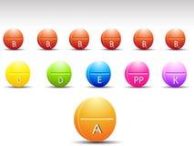 Vitamine de tablette de couleur Photos libres de droits