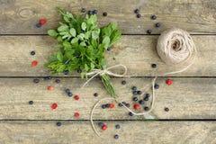 Vitamine della foresta in un mazzo Fotografie Stock Libere da Diritti