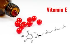 Vitamine e, capsules Images stock