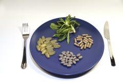 Vitamine e supplementi Fotografie Stock Libere da Diritti