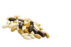 Vitamine in einem Stapel Stockfotos