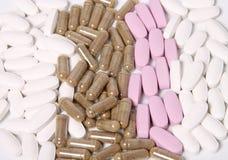 Vitamine en kruidensupplementen Stock Afbeeldingen