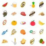 Vitamine ikony ustawiać, isometric styl Obraz Stock