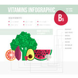 Vitamine infographic Obrazy Stock