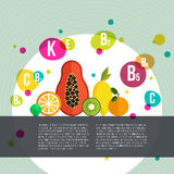 Vitamine infographic Stock Photo
