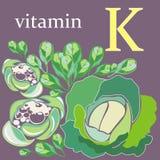 Vitamine K Royalty-vrije Stock Afbeeldingen