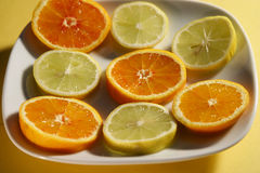 Vitamine naturali affettate Fotografia Stock Libera da Diritti