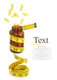 Vitamine Omega 3 capsules d'huile de poisson Image libre de droits