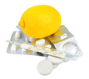 Vitamine per freddo Fotografia Stock