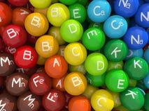 Vitamine u. Mineralien lizenzfreie abbildung