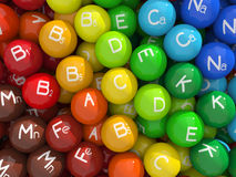 Vitamine u. Mineralien Lizenzfreies Stockbild