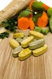 Vitamine Vegis-Ingwer Stockfoto