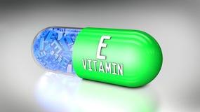 Vitaminecapsule of dieetsupplementen Stock Afbeelding