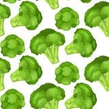 Vitaminen en mineralen van het hoofd van de broccolibloem Infographics over voedingsmiddelen in broccolikool vector illustratie