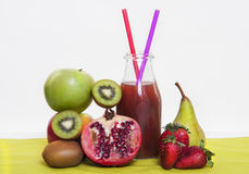 Vitaminen en van mneralsvruchten en groenten gezond voedsel Royalty-vrije Stock Fotografie