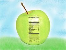 vitaminen en voedings onderwijsaffiche Stock Foto